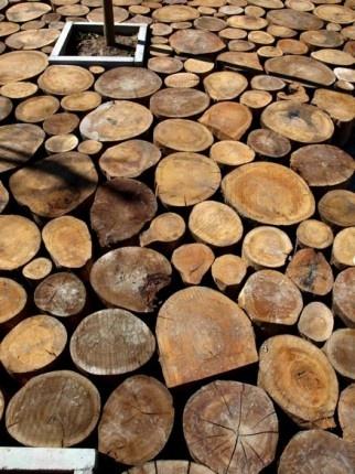 11 Best Tree Log Paving Images On Pinterest Backyard