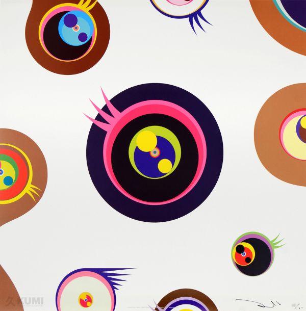 Takashi Murakami - Jellyfish Eyes White 1 - KUMI Contemporary