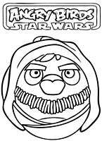 Angry Birds Star Wars coloring pages - free printable for kids #12