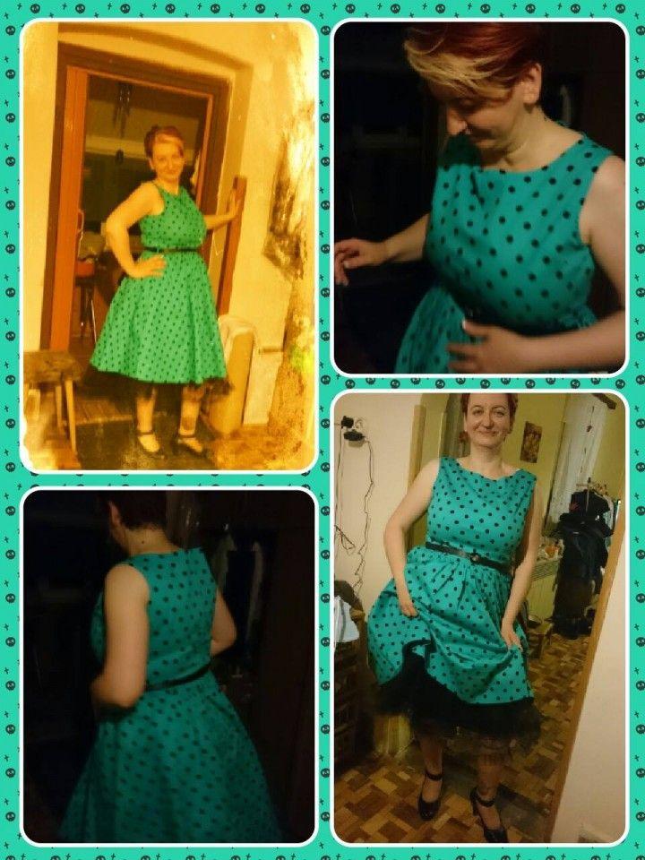 Vintage stílusú alkalmi ruha