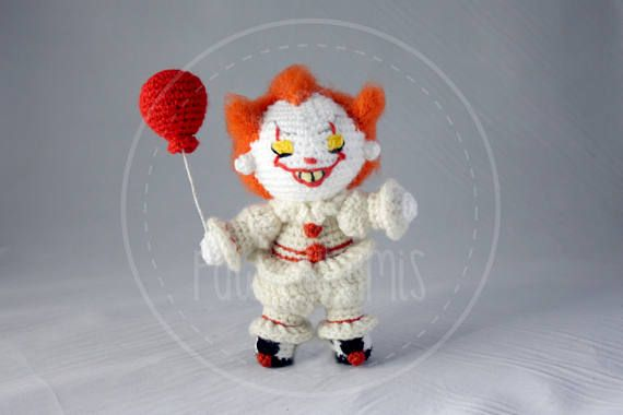 Pennywise  it remake 2017  16 cm 65 inches amigurumi
