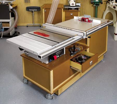 25 best ideas about table saw station on pinterest for Table saw cabinet plans free