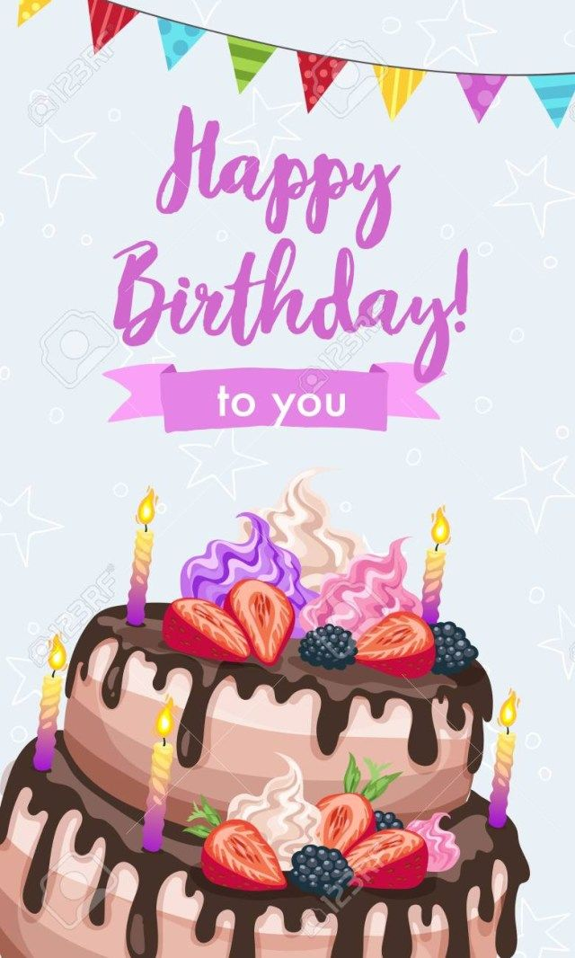 Pin On Happy Birthday Cake
