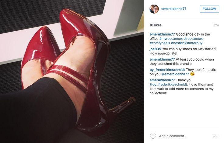 We love seeing Emeralda rocking our heels at work ♥