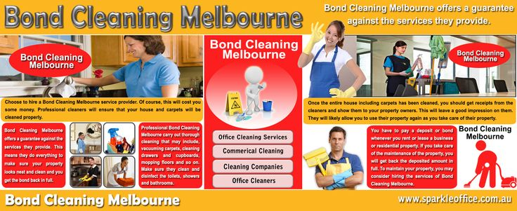 Check this link right here http://www.sparkleoffice.com.au/Bond-Cleaning-Melbourne.html for more information on Bond Cleaning Melbourne. Bond Cleaning Melbourne services has helped me in my home, properties and place of work ever since I've been patronizing the company and they seem to be very reliable and their workers are well trained and competent enough to perform their jobs excellently.