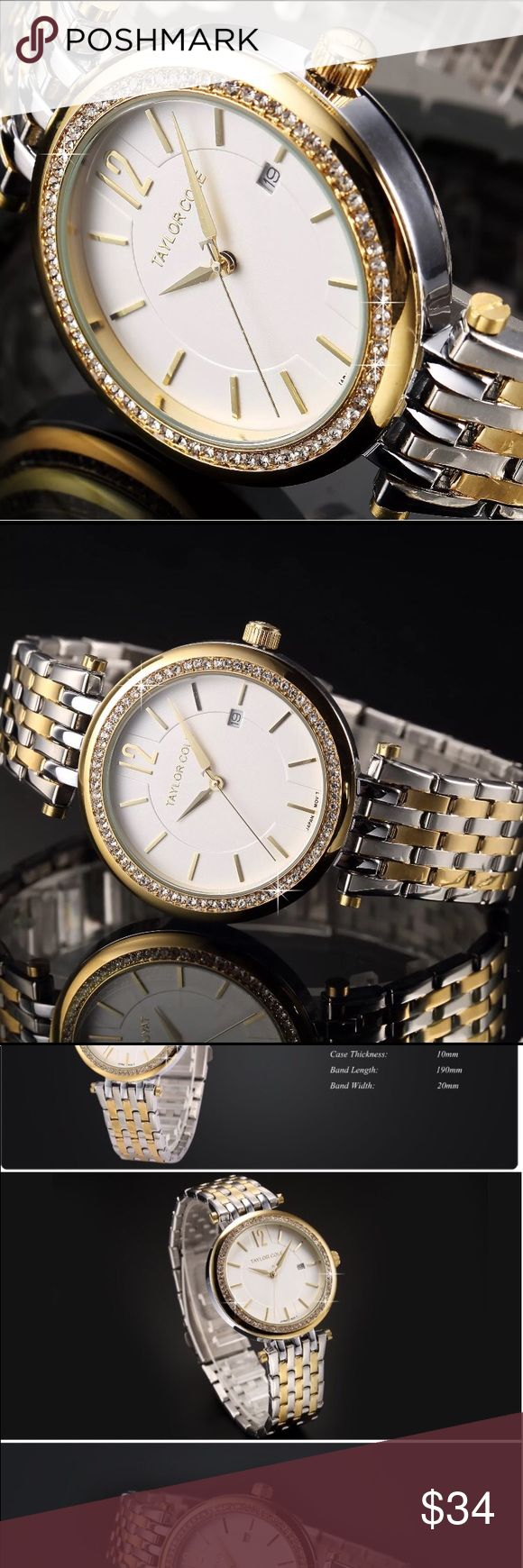 TAYLOR COLE Womens Fashion Wrist Watch Gorgeous Watch by Taylor Cole is Brand New in Box! Taylor Cole Jewelry
