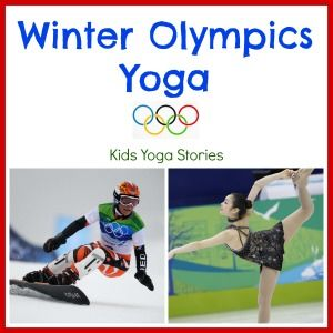 Winter Olympics-inspired kids yoga sequence to bring fun and movement to Olympic celebration + 12 extension ideas by Kids Yoga Stories