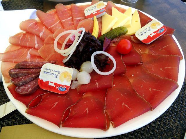 The 'Grison Plate' at UTO Kulm Restaurant Allegra in Uetliberg