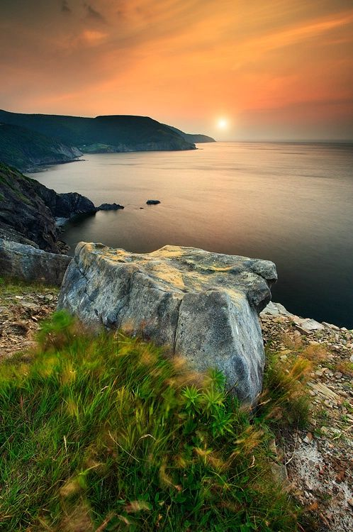 Cabot Trail, Meat cove in Nova Scotia, Cape Breton Island, Canada