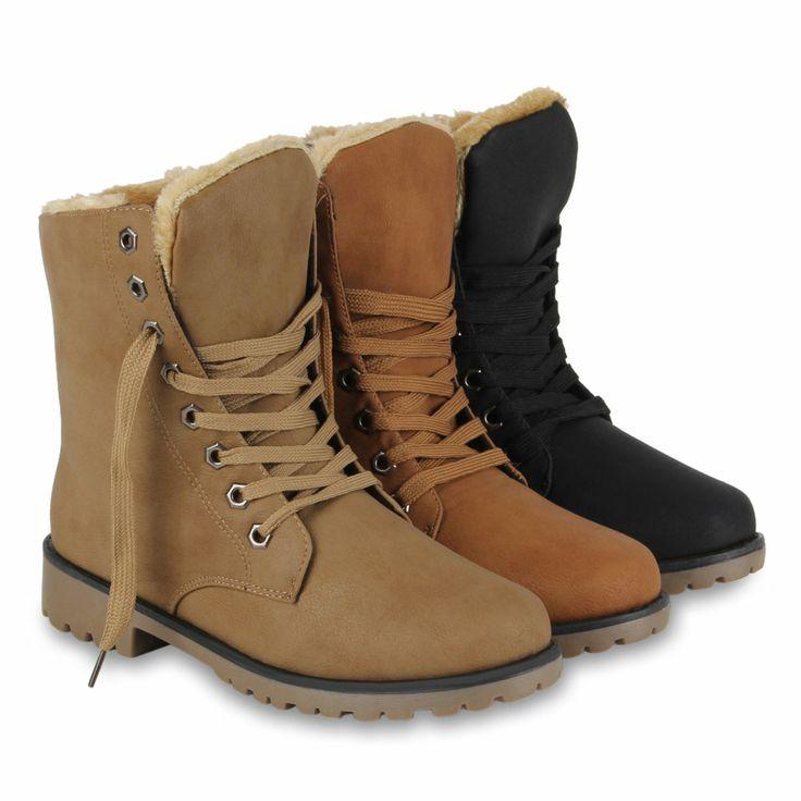 Damen Schn rstiefeletten Warm Gef tterte Winter Boots 820094 Hot