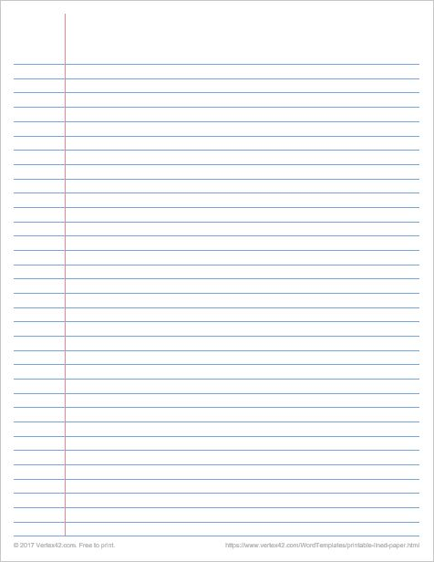 Download the Printable Lined Paper - College Ruled from Vertex42.com