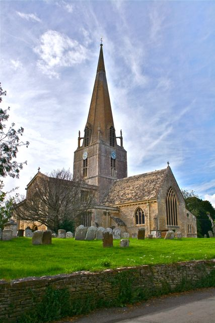 The 12th century St Mary's Church in Bampton, Oxfordshire, England is the church location for Downton Abbey