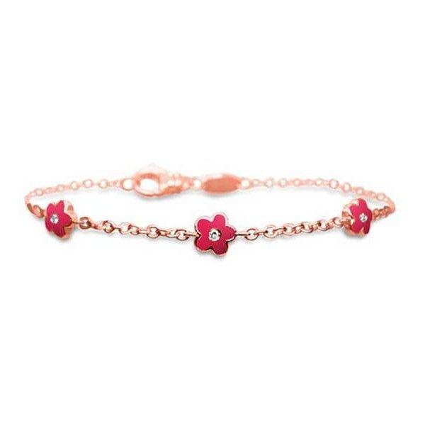 Aaron Basha Rose Gold Fluorescent Pink & Diamond Flower Trio Bracelet ($1,600) ❤ liked on Polyvore featuring jewelry, bracelets, neon bangles, pink diamond jewelry, rose gold diamond bangle, neon jewelry and pink bangles