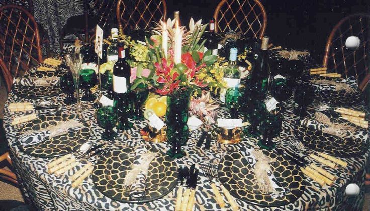 17 best images about cheetah themed party bridal shower for Animal print decoration party