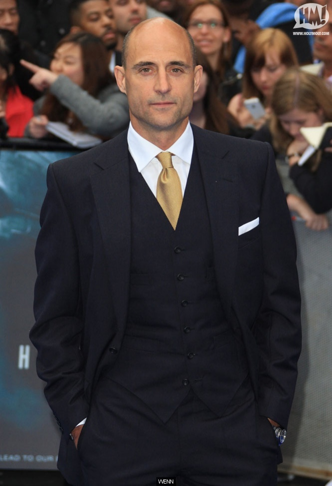 I love Mark Strong and I love a man in a three piece suit.