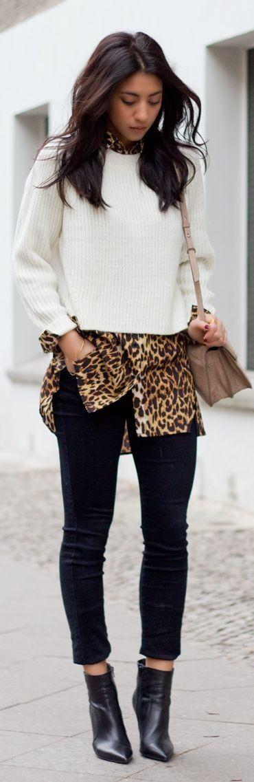 Camel Leopard Shirt Dress