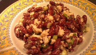 Divine salade de haricots rouges et fromage feta #sante