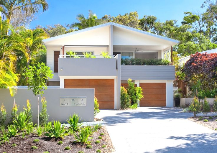 Modern sunshine beach duplex australia duplex designs for Duplex beach house plans
