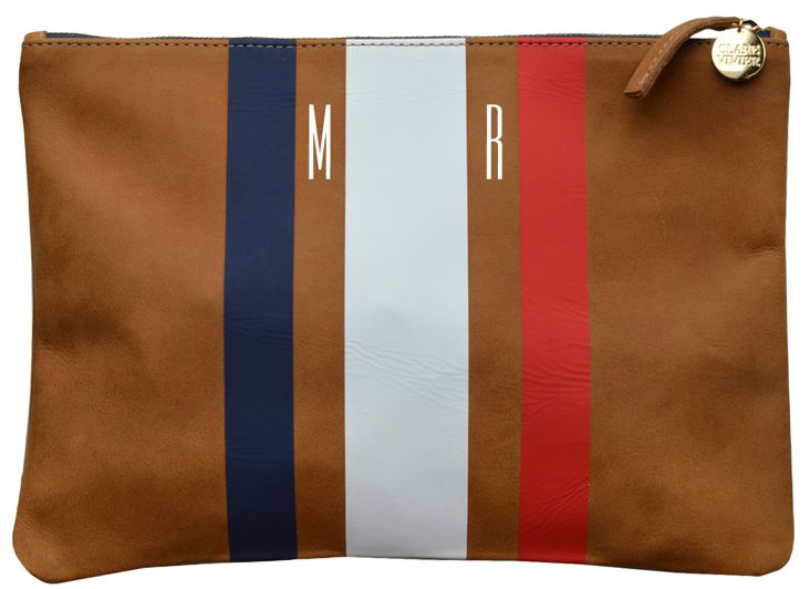 dying for this clare vivier monogrammed clutch!