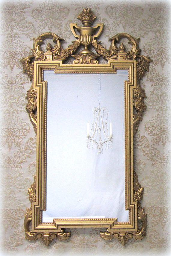 White neoclassic 29 x20 white baroque mirrors ornate for White baroque style mirror