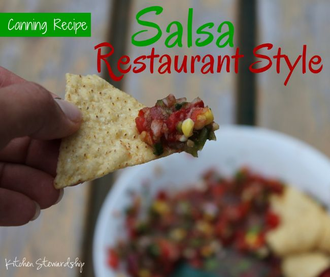 This homemade canned salsa recipe tastes just like our favorite Mexican restaurant's. It's simple and easy to do in the food processor and can be mild, medium or spicy hot! Canning low-acid foods is easy with these instructions!