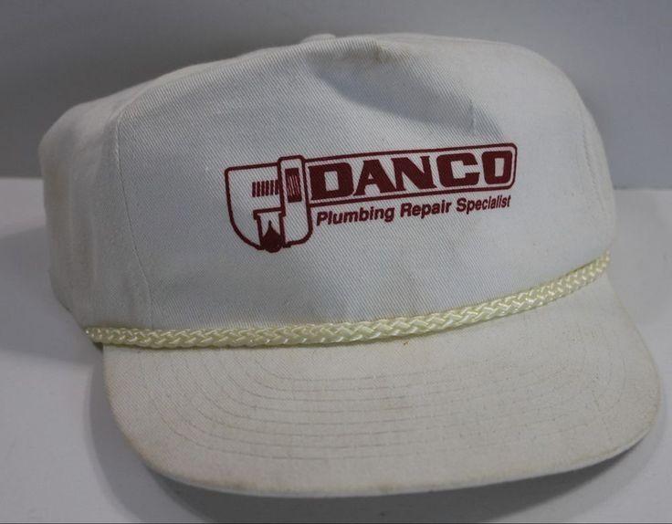 Vintage Danco Plumbing Repair Specialist Rope Brim Trucker Hat Snapback Unbranded Truckerhat Trucker Hat Plumbing Repair Hats