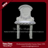 Pure hand carved white bathroom marble sink