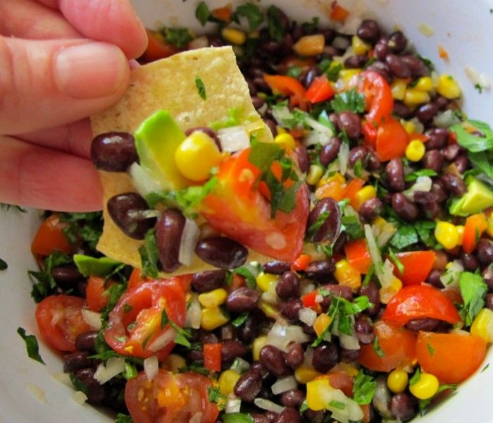 Fresh black bean dip - I made this for our Mexican Thanksgiving meal. It is delicious and everyone loved it!