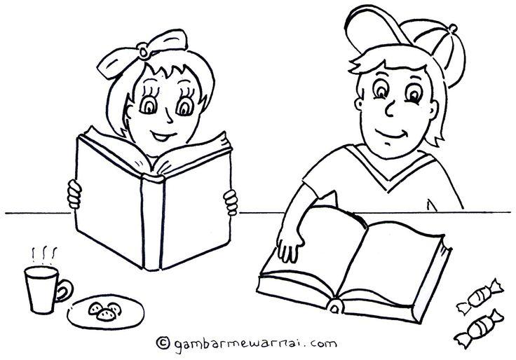 Mewarnai Gambar Anak Membaca Buku Gambar Mewarnai Unta Places To