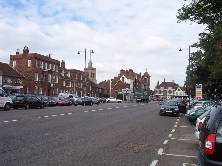 Baldock High Street Old Coaching Town. A broad High Street.