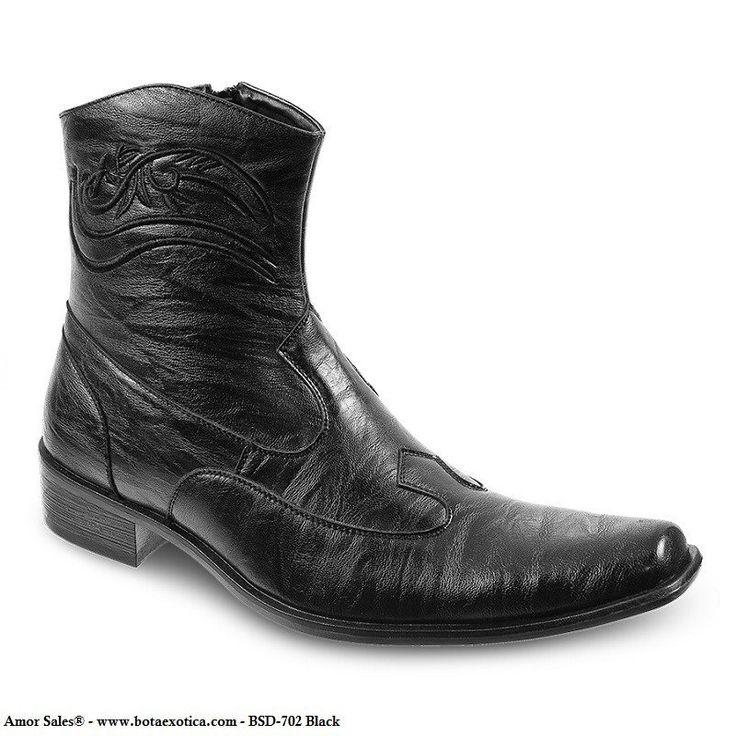 BSD-702 - Botas Casuales para Hombres. Botas modernas para hombres / Fashion Boots for men. Forro de cuero / Leather lining Suela de goma / Rubber outsole. Bonafini Shoes - Botas casuales para hombres