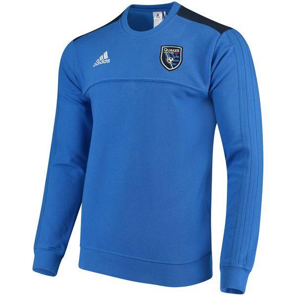 Men's San Jose Earthquakes adidas Royal Tiro Culture Crew climalite Sweatshirt - MLSStore.com