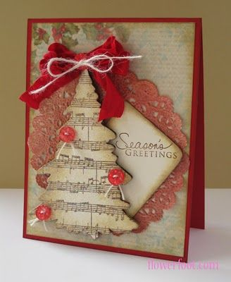 treeTrees Cards, Christmas Cards, Cards Ideas, Music Paper, Music Trees, Music Theme, Sheet Music, Music Sheets, Christmas Trees