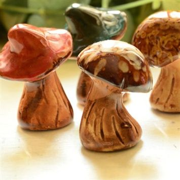 Boolmax™  Garden Crafts Creative Ceramic Mushroom (coupon code 3offpin) #gardening #outdoor #ornaments