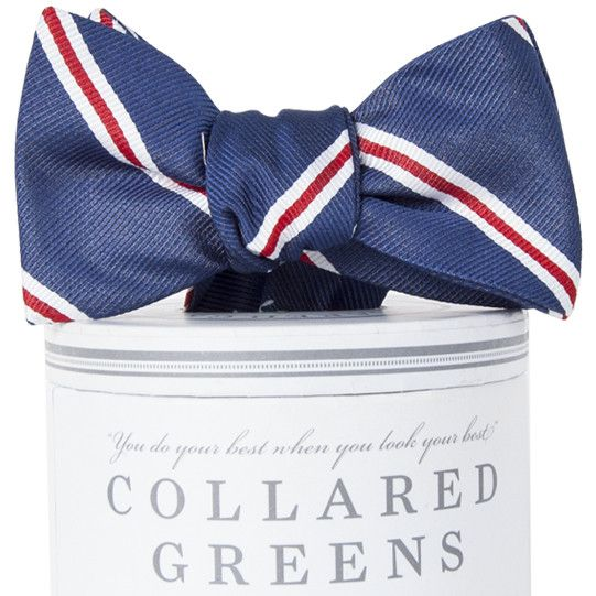 The Martin Bow Tie in Navy and Red by Collared Greens