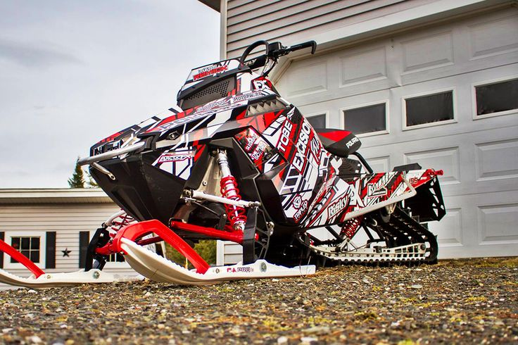 Image gallery for our Polaris ProRide Rush and ProRMK model sled wraps.