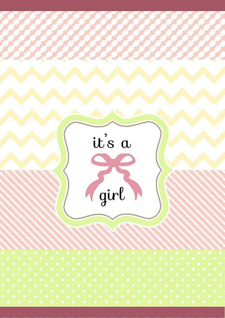 it's a girl, http://babalisme.blogspot.com/2012/06/pick-your-gender.html: Tutorials Printable, Free Printable, Printable Para