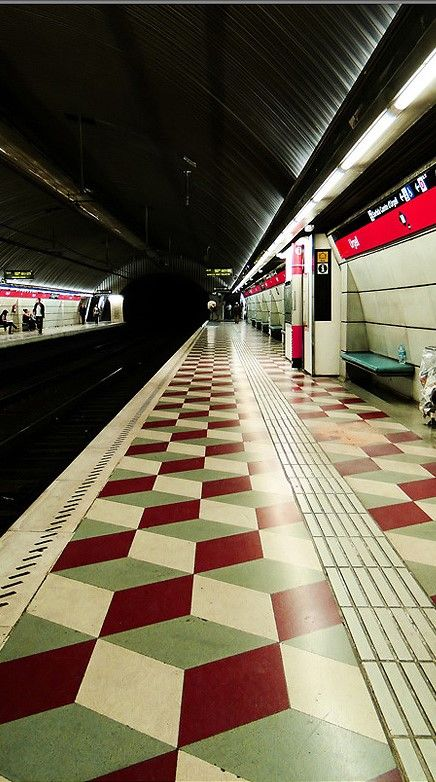 Metro Urgel | Barcelona subway by Juan Ferragut Handmade tiles can be colour coordinated and customized re. shape, texture, pattern, etc. by ceramic design studios