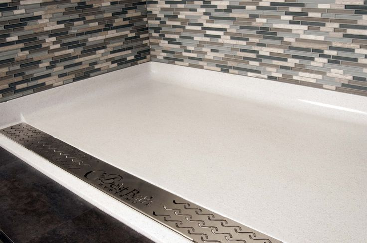 Best Bath Shower Pan With Trench Drain And Tile Walls Have The Gorgeous Tile Look Without The Fear Of A Leak Shower Pan Shower Installation Shower Renovation