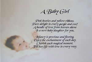 Short Poems for New Baby | PERSONALISED BABY GIRL POEM ...