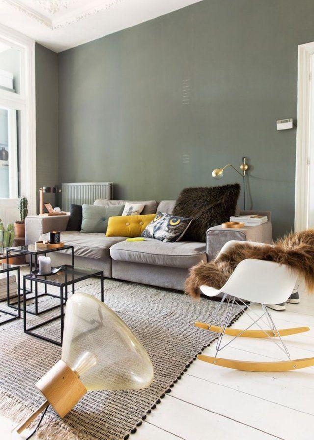 Les 25 meilleures id es concernant vert de gris sur for Idee deco salon original