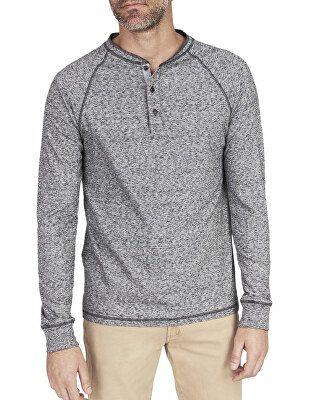 254199e6 Faherty Designer Men's Luxe Heather Organic Slub Henley Shirt ...