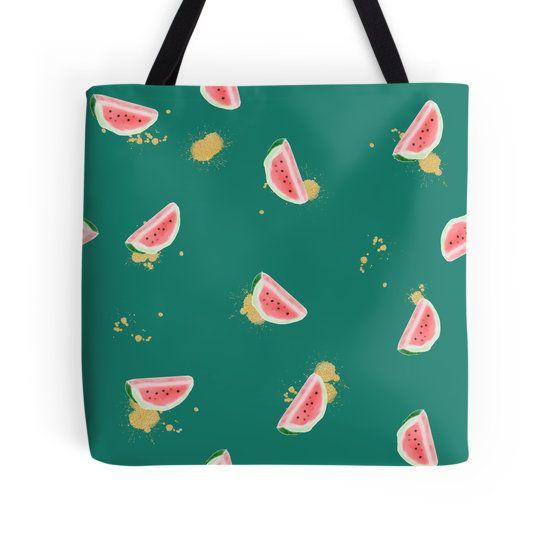 Summer Watermelon with Gold Splashes