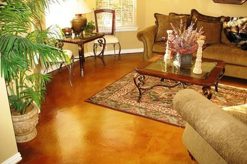 concrete+stained+floors   Staining Concrete Floors - How-to Tips For Concrete Stains - The ...
