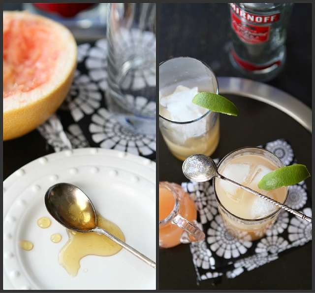 Pink Grapefruit Greyhound Cocktail Recipe by CookinCanuck, via Flickr