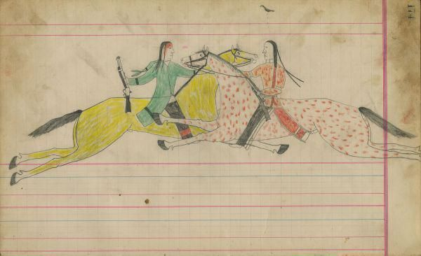 Great Plains Ledger Drawings : Best images about native american ledger art on