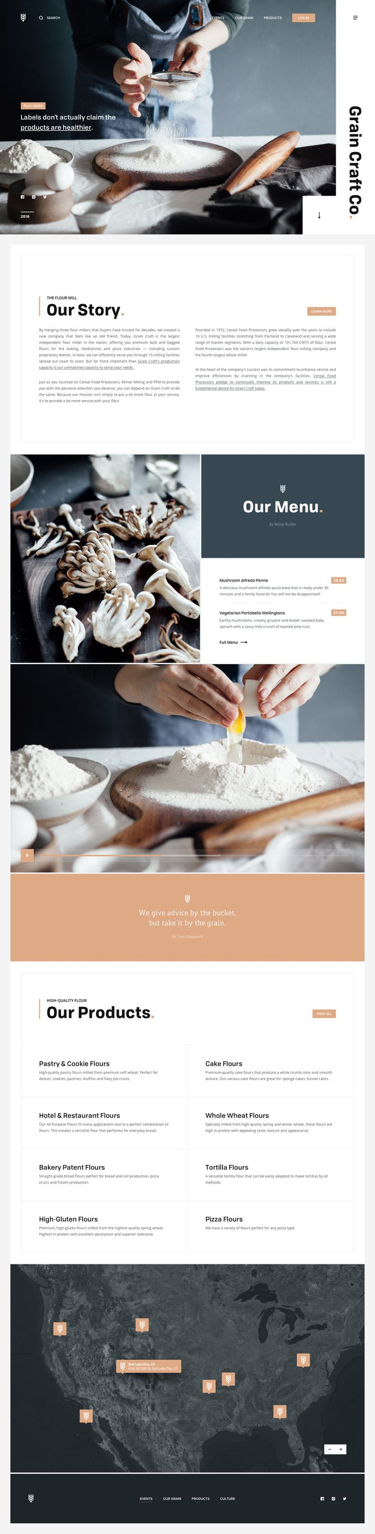 Grain Craft Co. Concept Food Web Design