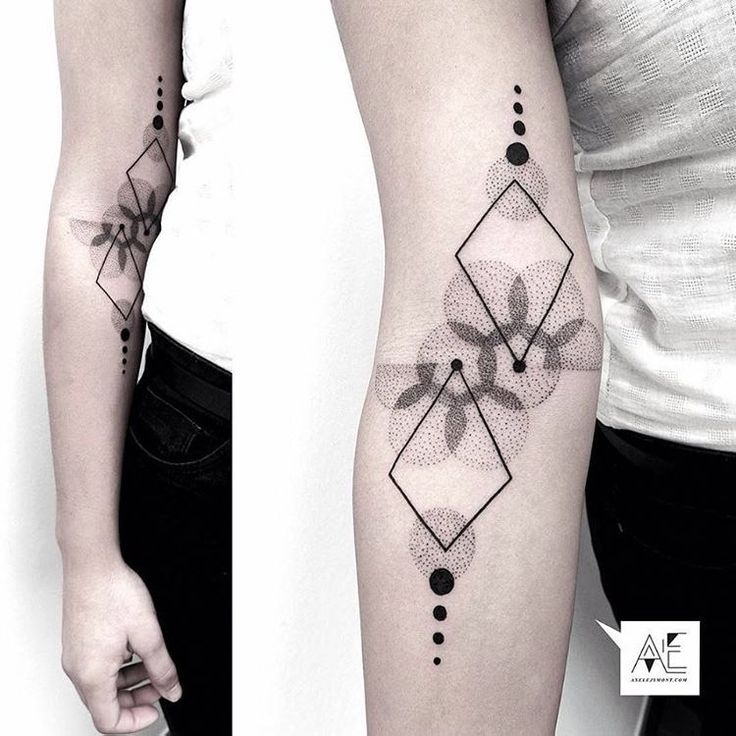 Geometric Abstract Tattoo                                                                                                                                                      Más
