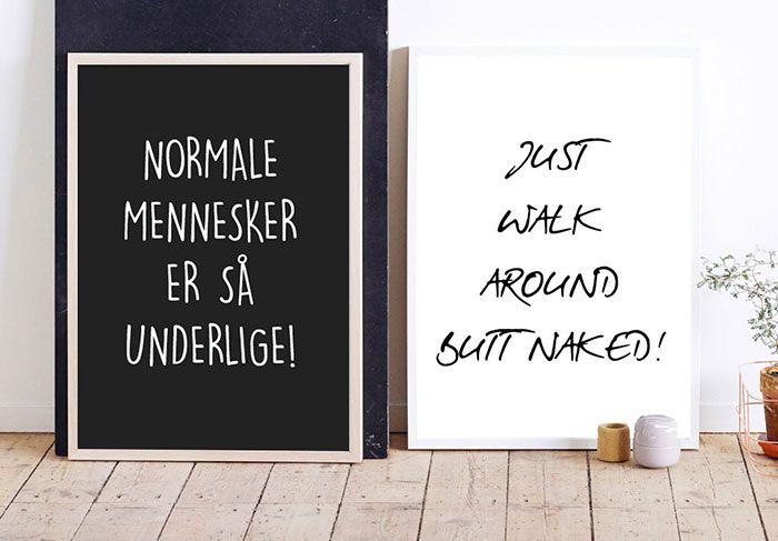 2 af vores flotte typografi og statement plakater - måske en plakat til dig? #art #typography #poster