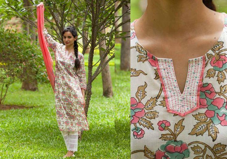Salwar Kameez Dupatta set - Salwar Set Blushing Pink by Suvasa - PC - 6505 - Main